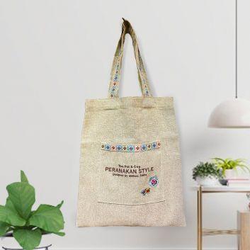 プラナカン刺繡リネントートバッグ