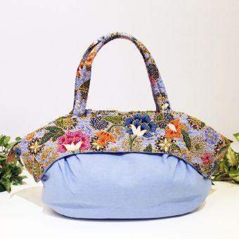 ビーズ刺繍 丸型バッグ