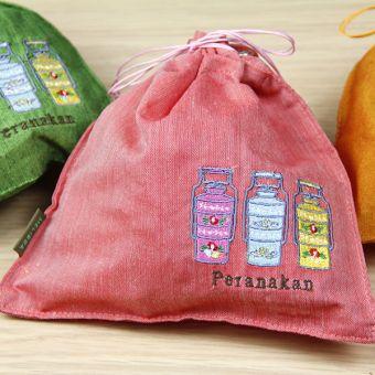 プラナカン ティンカット巾着(小)