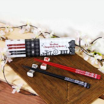 マーライオン箸と箸置きセット(2膳)