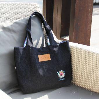 プラナカン刺繍トートバッグ(インナーバティック付き)