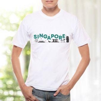 メンズTシャツ - シンガポールワード(緑)