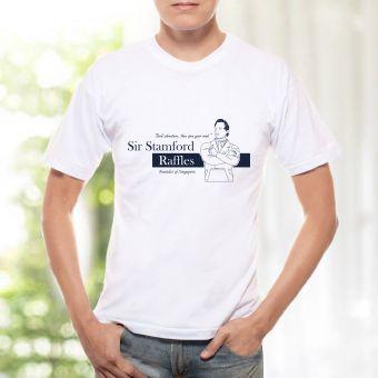 メンズTシャツ - ラッフルズ卿 ( 青)