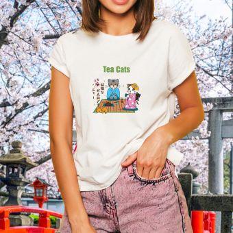 抹茶ねこちゃん Tシャツ
