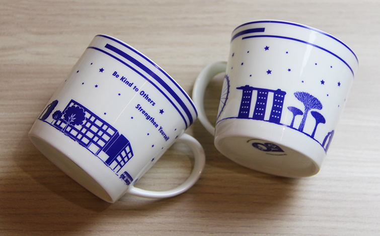 The Japanese School, 50th year twin cups